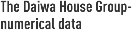 The Daiwa House Group-numerical data