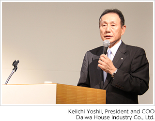 Keiichi Yoshii, President and COO, Daiwa House Industry Co., Ltd.