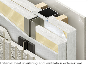 External heat insulating and ventilation exterior wall