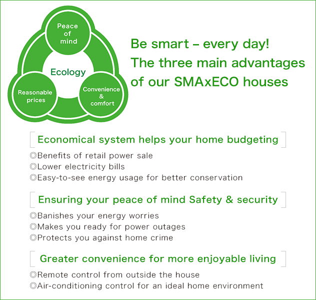 Be smart – every day! The three main advantages of our SMAxECO houses