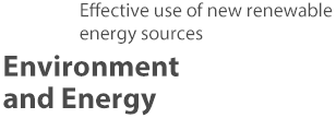 Effective use of new renewable energy sources Environment and Energy