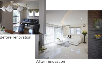 Before renovation After renovation