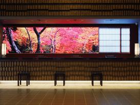 大迫力パノラマ映像のお出迎え「ダイワロイヤルホテルグランデ 京都」