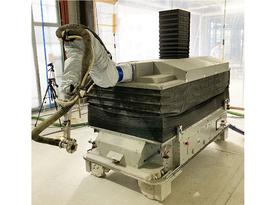「耐火被覆吹付ロボット」実工事に初導入