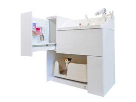 業界初 水洗トイレ・シャンプーシンク一体型猫専用ユニットバス「ネコレット」発売