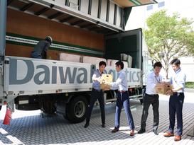 救援物資を西日本豪雨被災地へ輸送